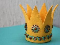 felt crowns, $25 + on etsy.com, fun, easy and inexpensive to replicate