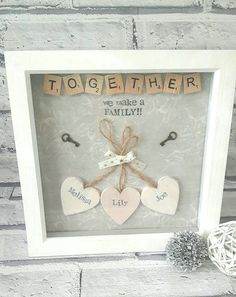Personalised Scrabble Frame Gift For Family Gift For Couple