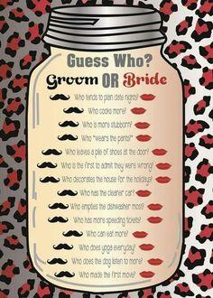 Wedding table quiz?