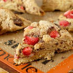 Strawberry & dark chocolate scones