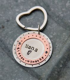 Heart Custom Key Chain Nana Grandma - Grandchildren Gift, Personalized For Grandma on Mother's Day, Grandmother, Nana, Easter Gift. $24.50, via Etsy.