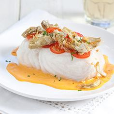 Poached Fish Fillets with Sherry-Tomato Vinaigrette Recipe - America's ...