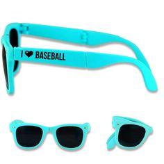 bb1170d105a26 Foldable Baseball Sunglasses I Heart Baseball Baseball Sunglasses