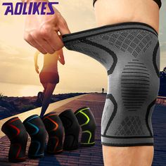 c4d24f0721 1PCS Fitness Running Cycling Knee Support Braces Elastic Nylon Sport Compression  Knee Pad Sleeve for Basketball Volleyball