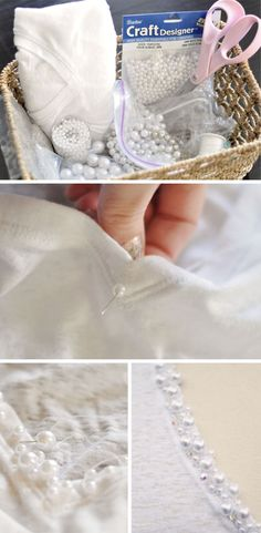 diy - customizing white shirt with embroidery