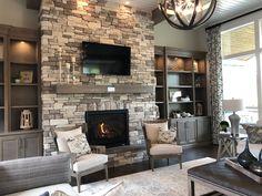 Windows, fireplace