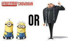 It's a Despicable Me showdown!  Repin for the minions Favorite for Gru