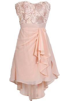 Pinwheels and Petals Chiffon High Low Designer Dress www.lilyboutique.com
