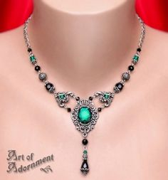 Absinthe Renaissance Rhinestone Necklace - Art of Adornment