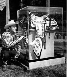 One-of-a-kind plastic saddle Roy rode aboard his horse, Trigger, as Marshal of the 1952 Tournament of Roses Parade.