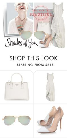 """Shades of You: Sunglass Hut Contest Entry"" by sandevapetq ❤ liked on Polyvore featuring Post-It, Prada, GINTA, 3.1 Phillip Lim, Tiffany & Co., Gianvito Rossi and shadesofyou"