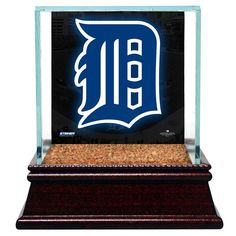 Detroit Tigers Glass Single Baseball Case with Team Logo Background and Authentic Field Dirt Base (MLB Auth) - $39.99