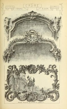Materials and documents of architecture and sculpture - French Rococo style - example from Chateau de Chantilly