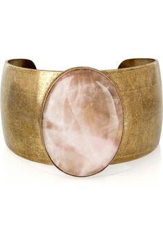 Isabel Marant|Pop Life rose quartz brass cuff