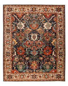 Solo Rugs Serapi Oriental Area Rug, x - Blue Persian Carpet, Persian Rug, Iranian Art, 9 And 10, Rugs On Carpet, Kilim Rugs, Pattern Design, Bohemian Rug, Oriental