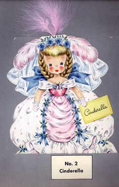Cinderella storybook card from the 1940s.