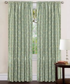 Take a look at this Sea Green Angelica Window Curtain by Triangle Home Fashions on #zulily today!