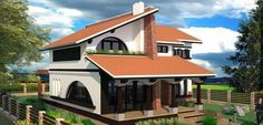 Home Fashion, Sweet Home, Villa, Backyard, Cabin, Mansions, House Styles, Krishna, Home Decor
