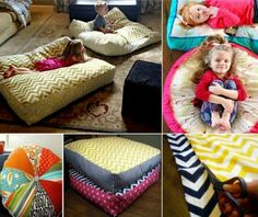 Make Your Own Floor Pillows | Floor pillows, Large floor pillows and ...