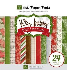 Echo Park Very Merry Christmas 6x6 Paper Pad von tollesDing auf DaWanda.com