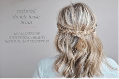 Autumn Hairstyles TEXTURED DOUBLE LOOSE BRAID