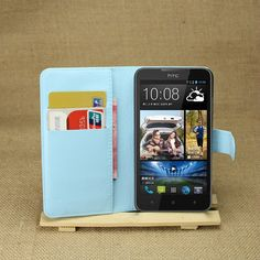 Free Shipping high quality litchi texture PU Leather Wallet Case Stand for HTC Desire 516 Mobile Phone Bag Cases