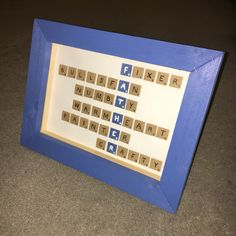 2016.06 Scrabble Effect in Homemade Frame - Father's Day 2016