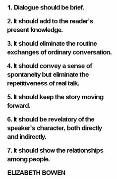 This is some great advice about writing dialogue...it covers a lot of the basics. --Laura Davis, The Writer's Journey