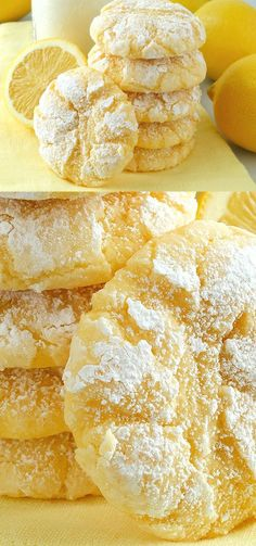 Best Easy To Make Desserts Lemon Gooey Butter Cookies - dessert, food, recipes