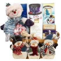Frosty and Friends! Snowman Christmas Holiday Gift Basket