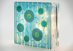 Glass block art..