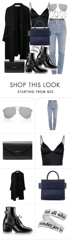 """""""Untitled #20862"""" by florencia95 ❤ liked on Polyvore featuring Yves Saint Laurent, Vetements, Balenciaga, T By Alexander Wang, A.L.C., Givenchy and H&M"""