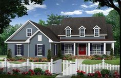 HPG-2150-1-The Shelton Road is a 2,150 sq ft / 3 bedroom / 2 bath house plan that you can purchase for $750.00 and view online at:    http://www.houseplangallery.com/HPG-2150-1.