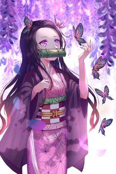 Demon Slayer: Kimetsu no Yaiba, Nezuko Kamado, kimono / 禰豆子 - pixiv Anime Neko, Otaku Anime, Anime Girl Cute, Kawaii Anime Girl, Anime Art Girl, Anime Girls, Manga Girl, Anime Angel, Demon Slayer