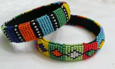Shared Treasures Boutique - African Zulu beaded bracelets/bangles - Set of 2 - Stunning!, $22.00 (http://www.sharedtreasuresboutique.com/african-zulu-beaded-bracelets-bangles-set-of-2-stunning/)