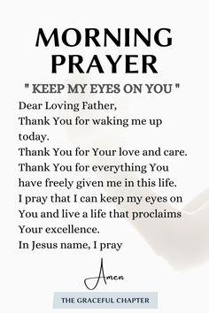 Daily Morning Prayer, Powerful Morning Prayer, Prayer For Today, Morning Prayers, Morning Messages, Prayer Scriptures, Bible Prayers, Faith Prayer, Bible Verses Quotes