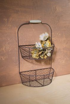 Amazon.com : Ohio Wholesale Chicken Wire Wall Basket, from our Everyday Collection : Tiered Basket : Patio, Lawn & Garden