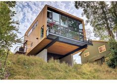 The leader in Modern real estate. Search hand curated Modern homes for Sale in Seattle and Portland. We find, showcase, and sell Modern homes. Cliff House, House On A Hill, Pole House, Casas Containers, Hillside House, House On Stilts, Box Houses, Modern House Design, My Dream Home
