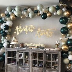 Sage Green Balloon Garland DIY Balloon Arch Wedding Bridal Balloons Baby Shower Decor Etsy - Two the Moon party Themes, Ideas, Images Balloon Arch Diy, Balloon Lights, Balloon Garland, Balloon Bouquet, Balloon Backdrop, Diy Garland, Ballon Arch, Light Up Balloons, Clear Balloons