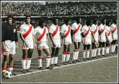 Peru, World Cup 1978 One of my first footballing memories was watching Peru rip Scotland apart in the 1978 World Cup. An iconic football team with an iconic kit. Check out more Vintage Football Teams Peru Football Team, First Football, Retro Football, National Football Teams, Nike Football, Vintage Football, Football Shirts, Football Players, World Cup Teams
