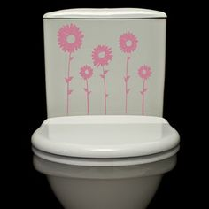 Peffect for little girls bathroom. Love these decals!