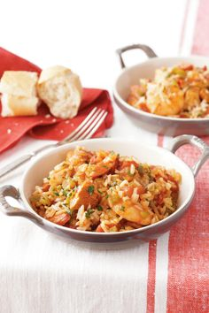 Chicken and Shrimp Jambalaya - Lightened Up Slow-Cooker Recipes - Southernliving. Recipe: Chicken and Shrimp Jambalaya