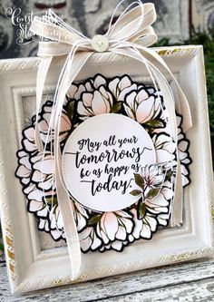 Home Decor Piece using Magnolia Lane DSP by Stampin' Up! art stampin up Constantly Stamping Magnolia Stamps, Stampin Up Catalog, Home Decor Signs, Card Sketches, Stamping Up, Cool Cards, Flower Cards, Creative Cards, Craft Fairs