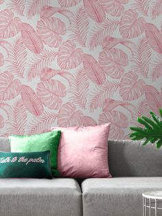 This Skinnydip Dominica Tropical Leaf Wallpaper is a perfect on-trend tropical print to bring style to any room. The design features a stunning pattern of palm leaves and cheese plant leaves in various shades of soft pink, set on a matte white background which creates the perfect contrast. Easy to apply by pasting the wall, this high quality paper would look great when used to create a feature wall or to decorate a whole room.