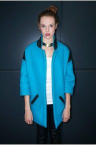 BLUE LAGOON GEOMETRIC COAT