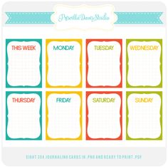 Project Life – Week 1 Plus a Freebie » Priscilla Davis Studio