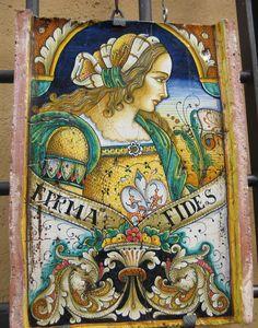 Maiolica tile - Deruta