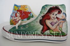 Mermaid Custom converse/hand painted