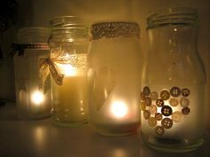 DIY Tutorial: Frosted Jar Tealight Holders
