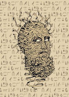 Balzam head_mummy alive #ilustration